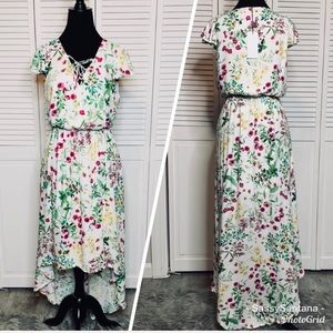 WAYF Floral high low dress brand new with tags szM